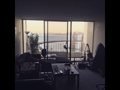San Francisco Apartment Tour Dec 2016 - Gadget drawer, Gaming station, Music Studio