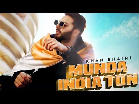 New Punjabi Songs 2020 | Khan Bhaini | Munda India Ton Lyrical Video | Latest Punjabi Songs 2019