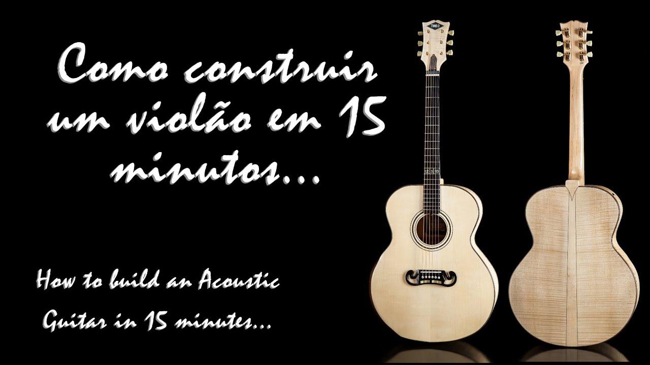 o construir um violà o em 15 minutos how to build an acoustic