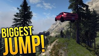 BeamNG Drive Gameplay - Altitude Modded Map - BIGGEST JUMP EVER! - BeamNG Drive Highlights