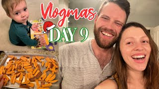 VLOGMAS DAY 9 // EASY Dinner Recipes, Hot Tubbin' + Dry Wall