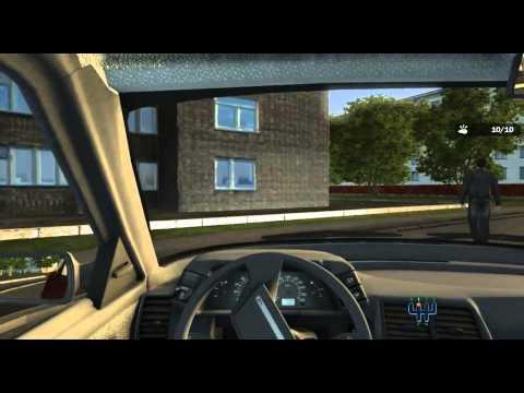 Прохождение игры Учебный авто симулятор 2 Движение во дворе
