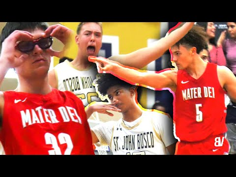 "Mater Dei VS St John Bosco RIVALRY CONTINUES! Devin Askew HEATS UP, 6'10"" SHOOTER + POSTER PUT BACK!"