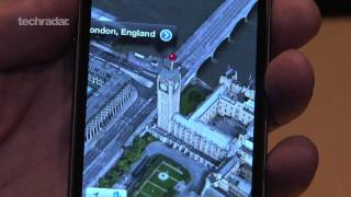 iPhone 5 Hands on: iOS 6 Maps Demo - 3D Mapping, Turn by turn Navigation