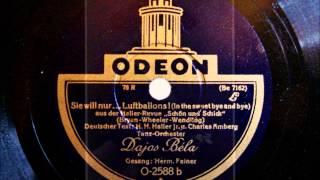 Dajos Bela - Hermann Feiner - Sie will nur Luftballons - Foxtrot - August 1928