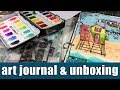 art journal | & unboxing new art by Marlene collection
