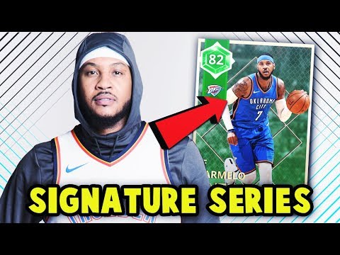 FIRST SIGNATURE SERIES CARD IN NBA 2K18 MyTEAM!! EMERALD OKC THUNDER CARMELO ANTHONY!!