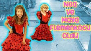 Şehrin En İyi Kostümcüsü - Maya Ve Noa Flamenko Dansçısı Oldu   Bizim Aile Eğlenceli Çocuk Videoları