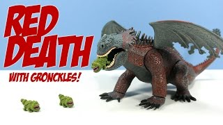 How to Train Your Dragon 2010 Red Death with Gronckles Rare Toy