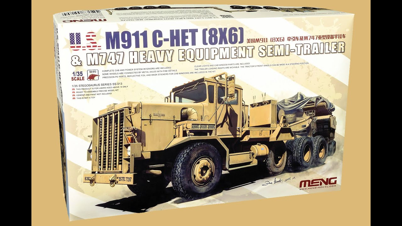 Meng 1//35 SS-013 Model 1//35 M911 C-HET 8×6 /& M747 Heavy Equipment Semi-Trailer