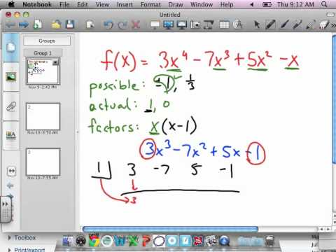 Factoring 4th Degree Polynomials.mov - YouTube