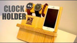 ✅  Wood Mobile Holder - DIY Geschenkidee aus Holz -