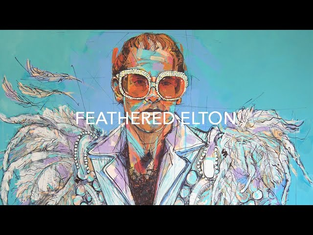 'Feathered Elton' Portrait | Laura Selevos