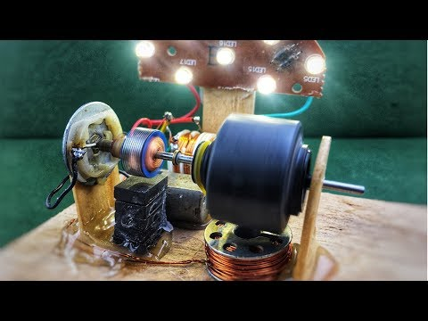Mini free energy generator with magnet using dc motor (dynamo) - Self running small machine 2018