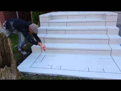 Amazing Creative Construction Design -Resurface Concrete Steps Best Product so Far-Solid & Durable !