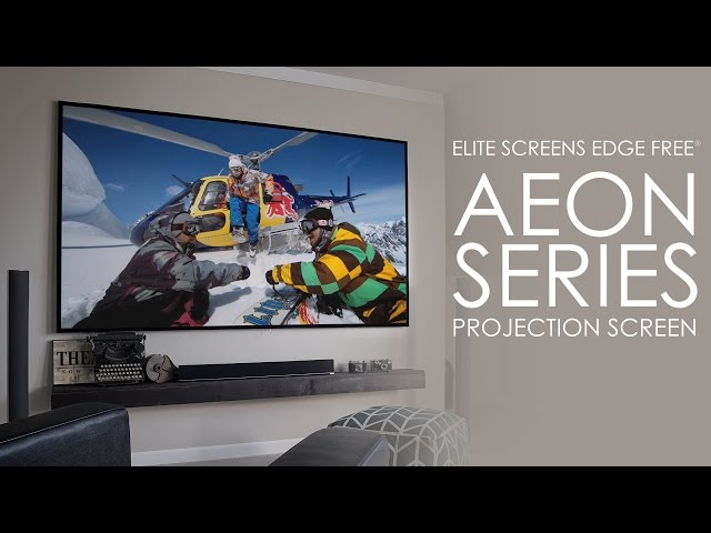 Elite Screens new EDGE FREE® Aeon Series Product Video