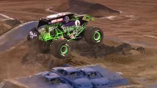 Grave Digger | Morgan Kane full Freestyle run - Monster Jam Las Vegas 2019