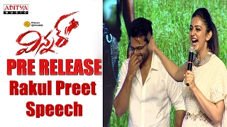 Repeat youtube video Rakul Preet Singh Cute Speech    Winner Movie Pre Release Event    Sai Dharam Tej, Rakul Preet   