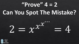 """Prove"" 4 = 2. Can You Spot The Mistake?"