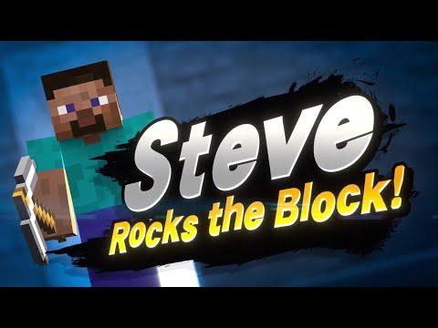 Minecraft Steve in Super Smash Bros Ultimate Trailer
