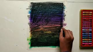 Drawing by scratching technique with oil pastels | Sparks of Art 😊