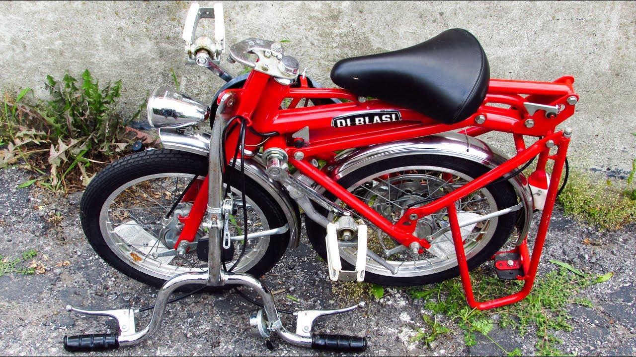 Bici Pieghevole Di Blasi.Unfolding And Folding A Di Blasi Folding Bike Youtube