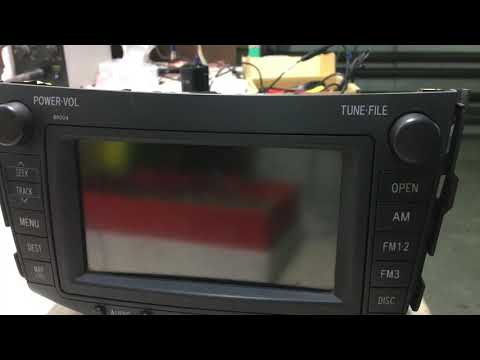 Toyota Rav4 подключение камеры заднего вида на штатную магнитолу B9004