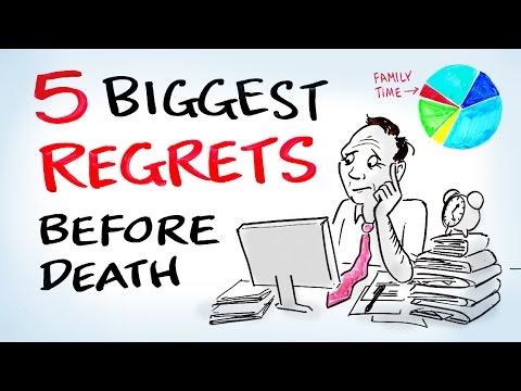 Biggest Regrets People Have Before They Die YouTube - Nurse reveals 5 biggest regrets everyone deathbed