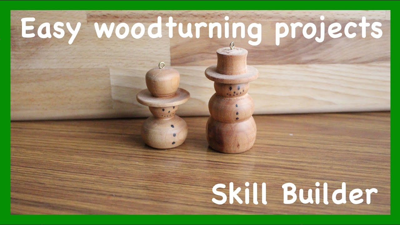 Turned Wooden Snowmen Ornamants Beading And Coves Skill Builder
