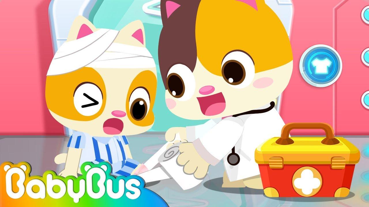Doctor MIMI at the Hospital 🏥🚑 | Policeman, Fireman 🚓 🚒 | Nursery Rhymes | Kids Songs | BabyBus