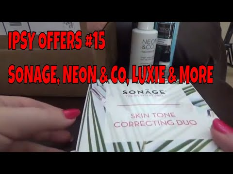 IPSY OFFERS #15 NELSON J BEVERLY HILLS NEON AND CO SONAGE