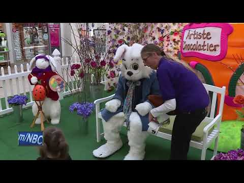 Easter Bunny Arrives At Bay Park Square Mall