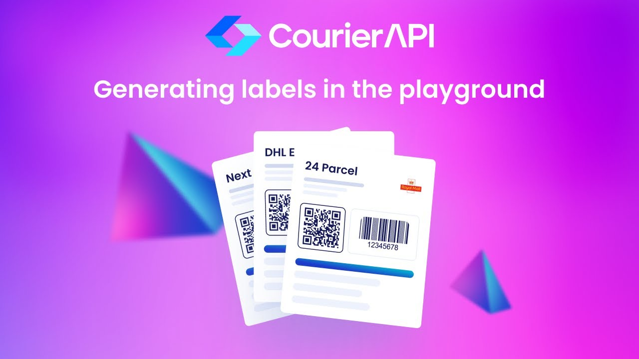 Courier API Generating Labels in the Playground