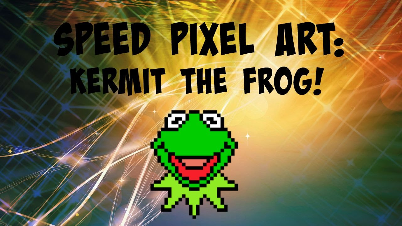 Speed Pixel Art Kermit The Frog Youtube