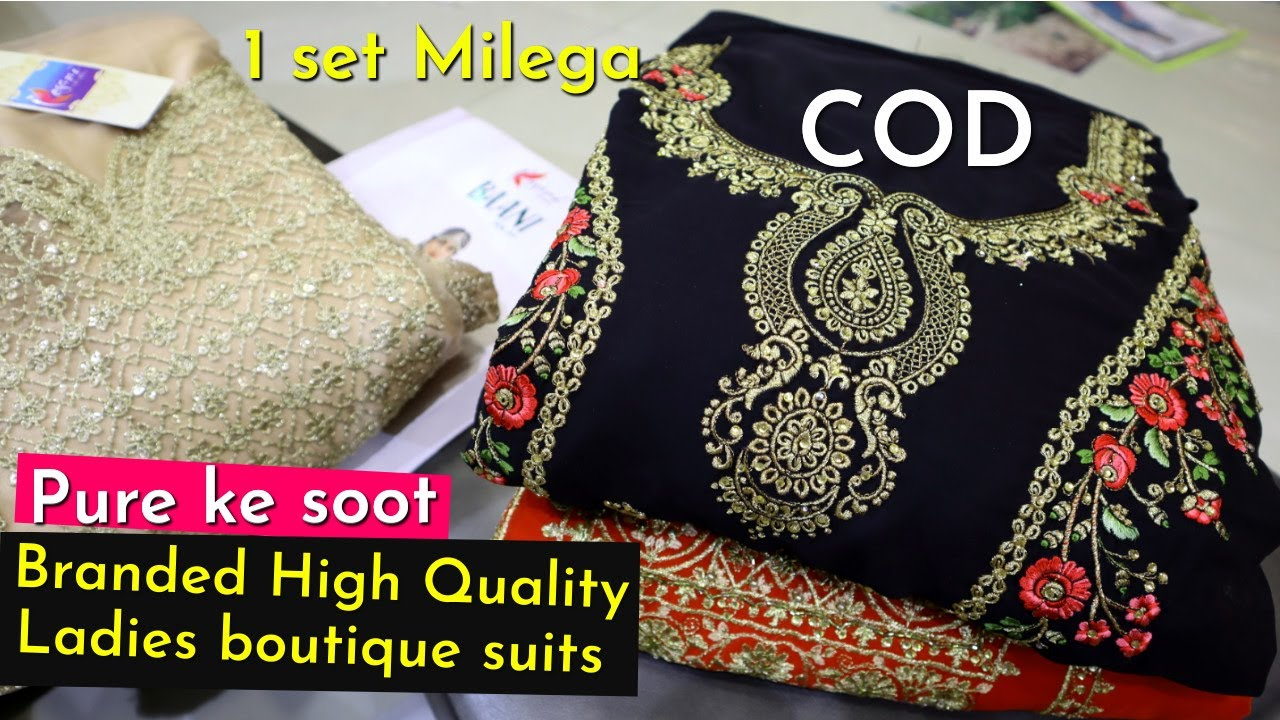 Branded High Quality Ladies boutique Pure ke suits /1 set Milega/COD