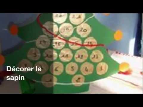 Calendrier de l 39 avent avec des rouleaux en carton youtube - Comment fabriquer un calendrier de l avent en carton ...