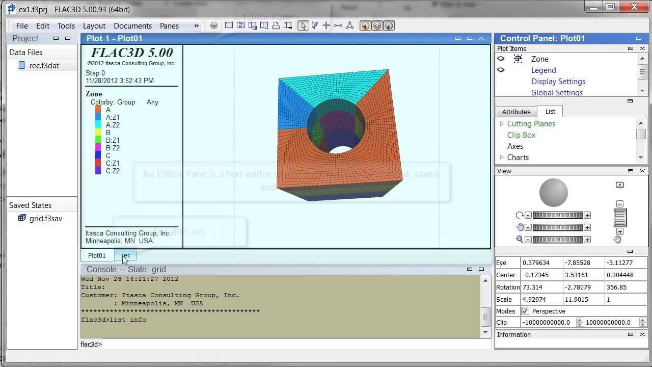 flac3d 5 0 window types youtube rh youtube com Itasca Consulting Group FLAC3D 5.01