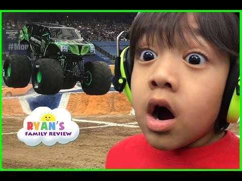 Thumbnail: Giant Monster Truck show and pit party with children play area family fun trip