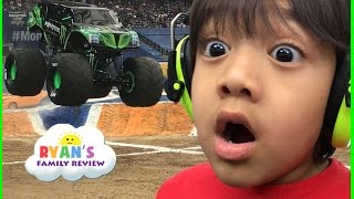 Giant Monster Truck show and pit party with children play area family fun trip thumbnail