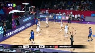 Finland vs Italy 57-70 /Eurobasket 2017 Round of 16 Highlights {9-9-2017}