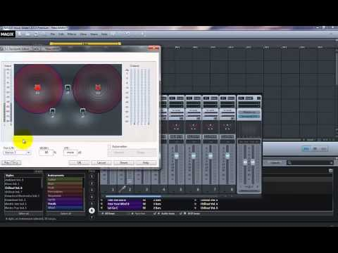 How to make surround 51 sound in Magix Music Maker