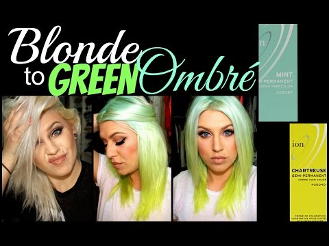 How To Blonde To Green Ombr 233