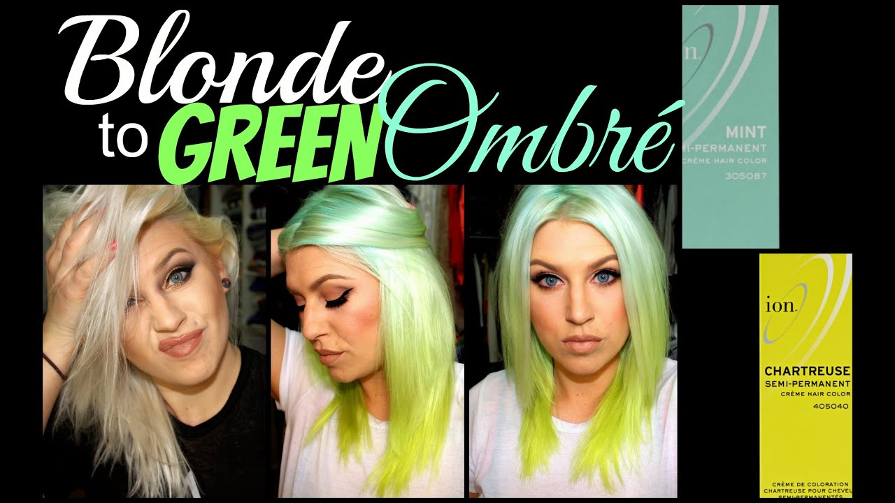 also how to blonde green ombre youtube rh