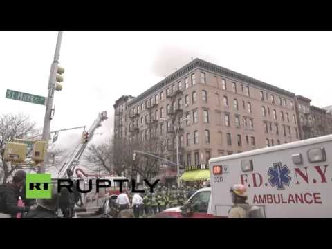 LIVE: Partial building collapse in Manhattan, people feared trapped