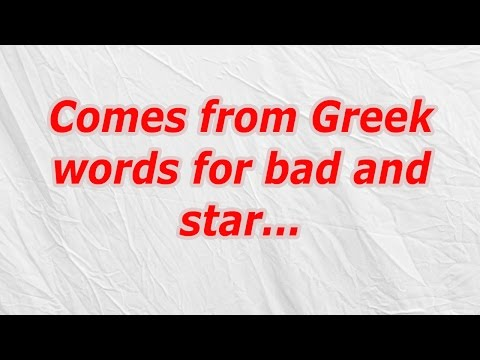 Comes from Greek words for bad and star (CodyCross Crossword Answer)