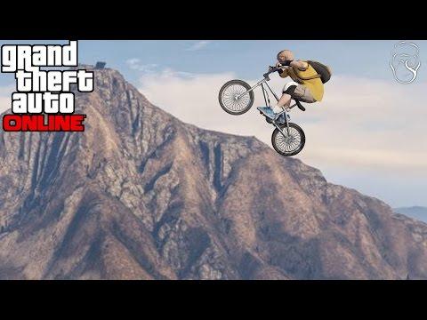 GTA 5 ONLINE | Urcam Chiliadul cu un BMX!
