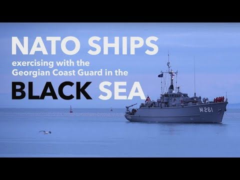 NATO ships exercising with the Georgian Coast Guard in the Black Sea