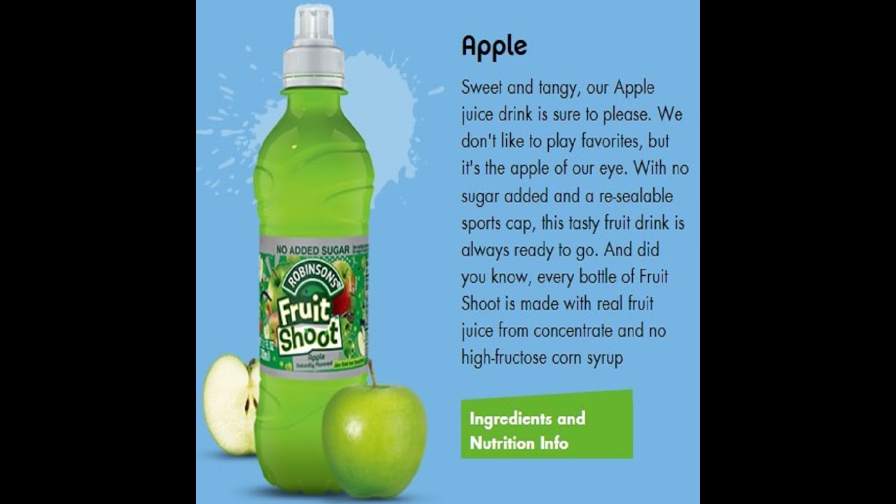 Shoot the fruit - Review Pizza Hut Robinsons Fruit Shoot Apple Juice Drink