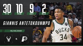 Giannis Antetokounmpo is UNSTOPPABLE! Drops 30-10-9 near triple-double vs Pacers! 😤