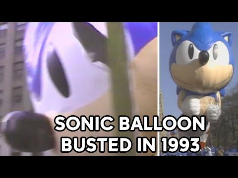 Sonic the Hedgehog balloon busted at 1993 Macy's Thanksgiving Day Parade